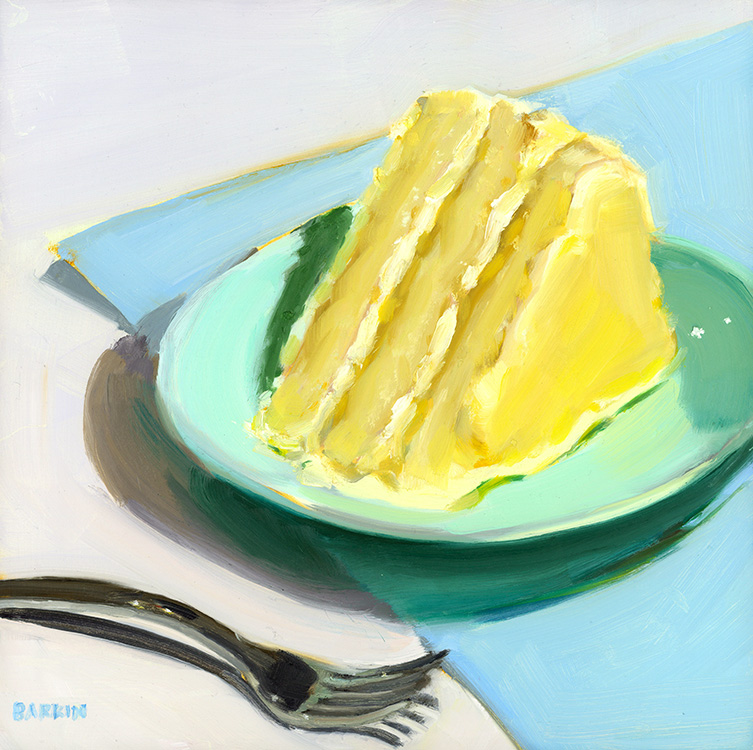 Painter Beatrice Barkin's high-resolution digital image 'Icing on Cake,' scanned by Chica Prints.