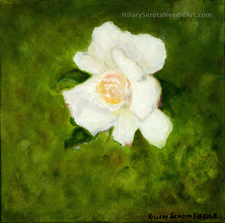 Painter Hillary Needle's high-resolution digital image 'Irish Rose,' scanned by Chica Prints.