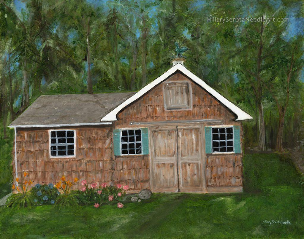 Painter Hillary Serota Needle's high-resolution digital image 'Summer Barn,' scanned by Chica Prints.